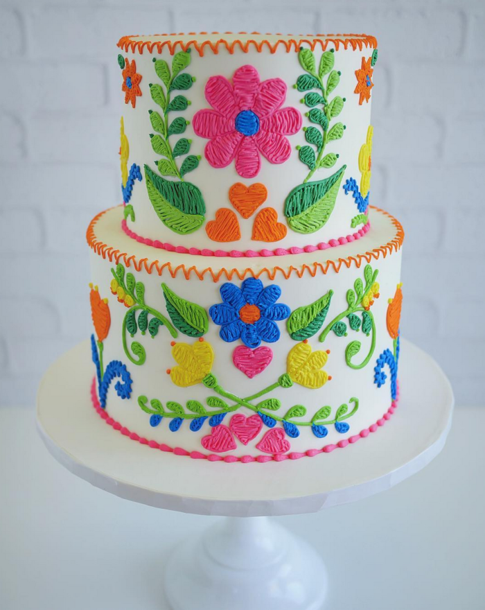 Embroidered Cake