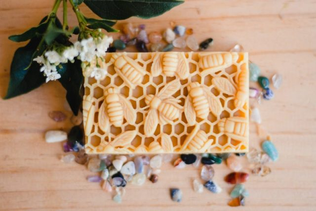 Honey and beeswax soap