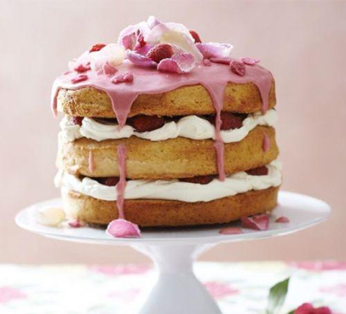 English rose cake