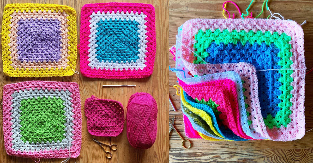 The Easy Peasy Blanket How To Crochet A Snug Granny Square