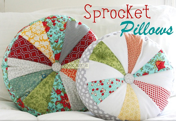 The One About Making The Round Patchwork Pillows