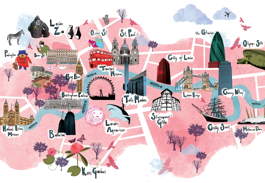 map of london with tourist attractions london