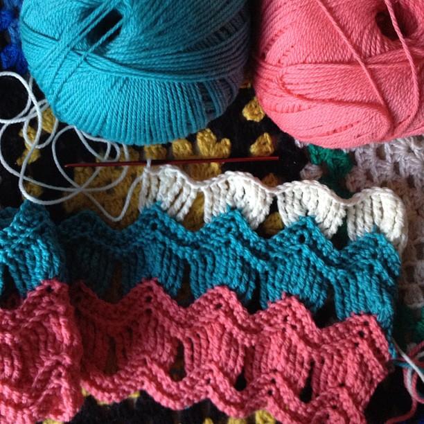 Vintage Ripple Crochet Afghan Pattern : Alfa img - Showing > Vintage Ripple Afghan Crochet Pattern